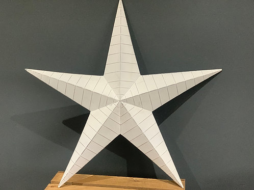 74cm White Ridge Design Metal Barn Star