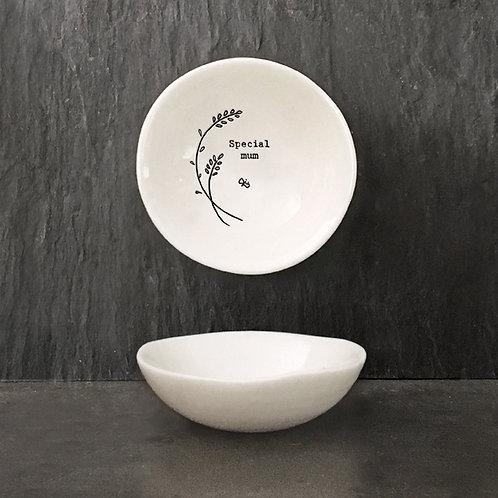 Special Mum Small Porcelain Wobbly Bowl