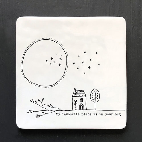 In Your Hug Porcelain Coaster