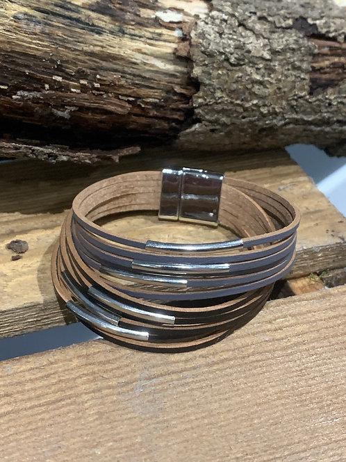 Black & Grey Multi Strand Bracelet