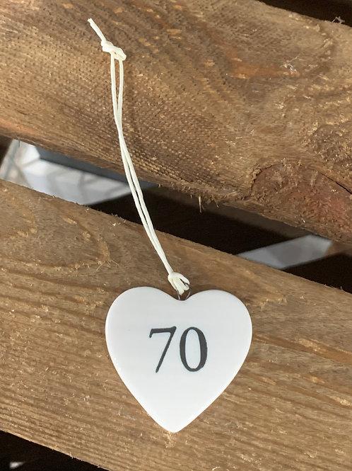 Seventy Porcelain Heart