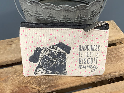 Happiness Is A Biscuit Away Cotton Purse