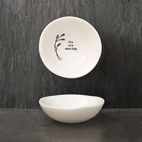 Amazing Small Porcelain Wobbly Bowl