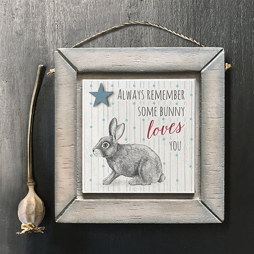 Bunny Wooden Picture