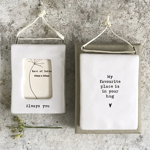 In Your Hug Mini Porcelain Photo Frame
