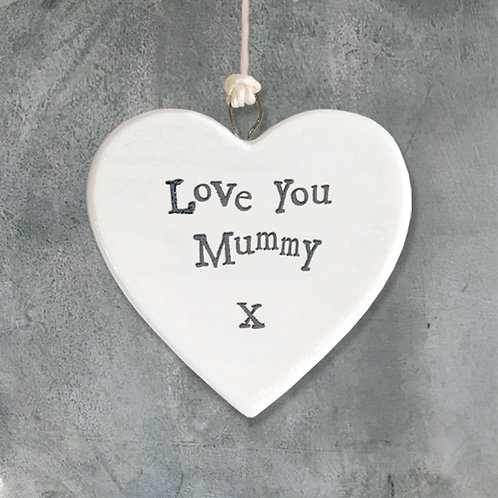 Love You Mummy Porcelain Heart