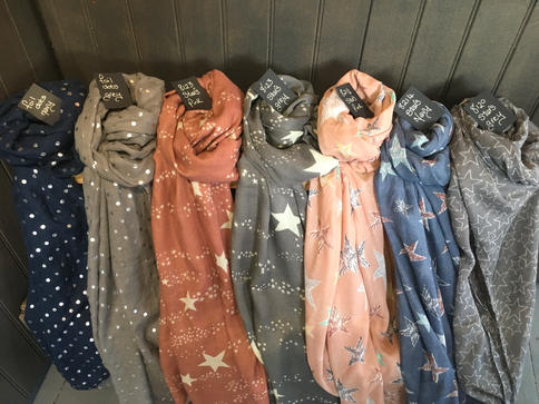 Spots And Stars Scarves