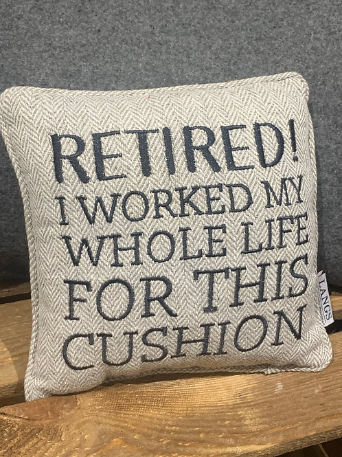 Retired Cushion