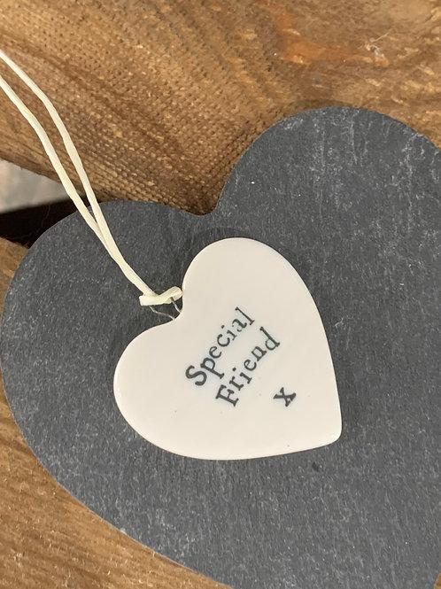 Special Friend Porcelain Heart