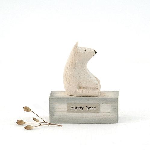 Mummy Bear Wooden Figure