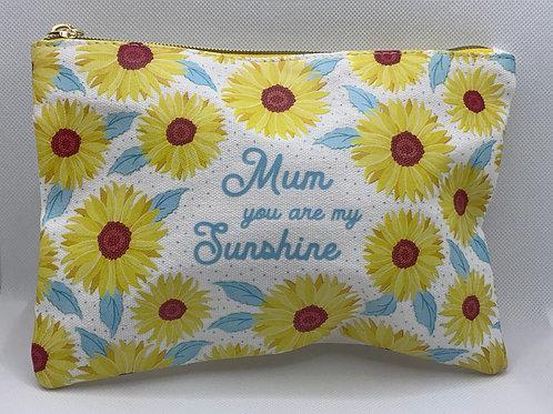 Sunflower Mum Make Up Bag