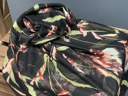 Black Thistle Design Scarf