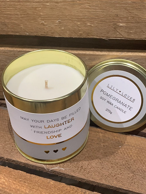 May Your Days Be Filled With Laughter Tin Candle