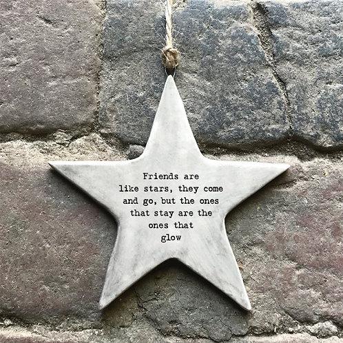 Friends Are Like Stars Rustic Heart