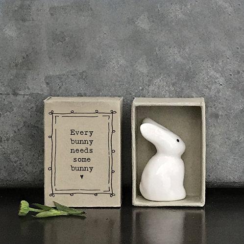 Bunny Porcelain Matchbox Keepsake