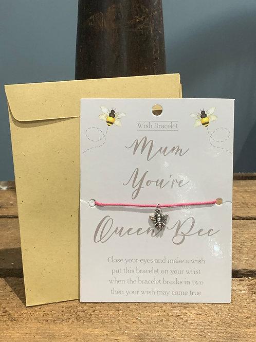 Mum Queen Bee Wish Bracelet