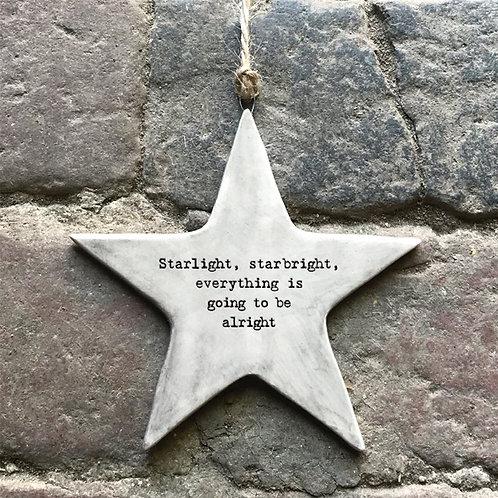 Starlight Starbright Rustic Porcelain Star