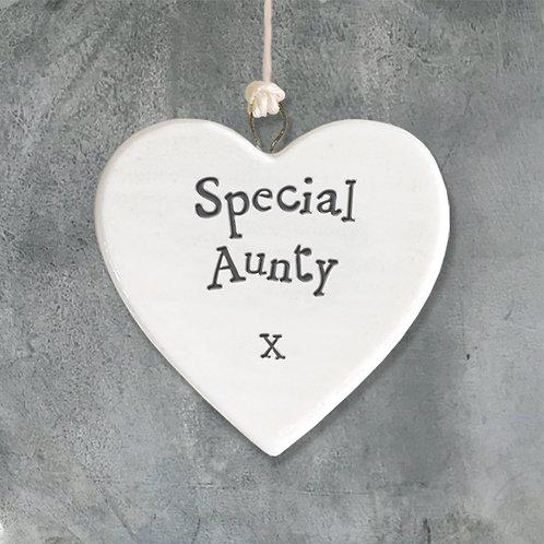 Special Aunty Porcelain Heart