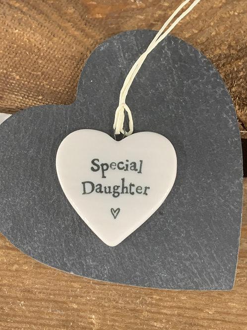 Special Daughter Porcelain Heart