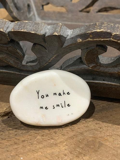You Make Me Smile Stone Pebble Keepsake