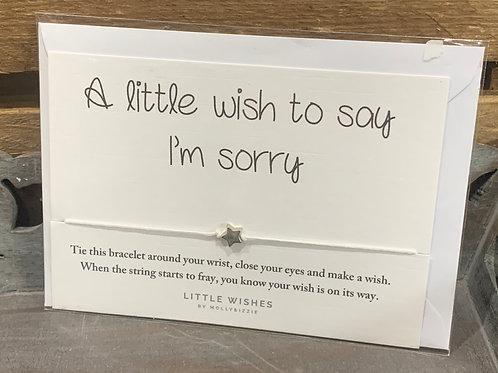 Sorry Wish Bracelet