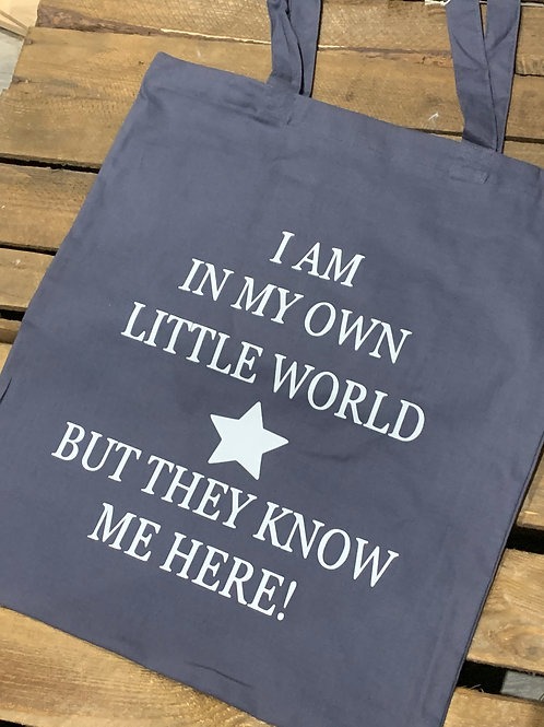 Own Little World Tote Bag