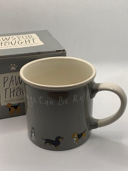 Mornings Can Be Ruff Mug