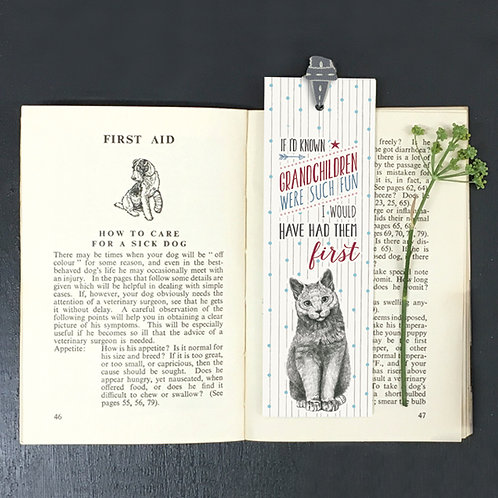Grandchildren Cat Bookmark