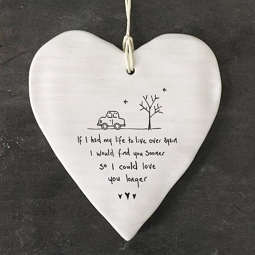 Love You Longer Porcelain heart