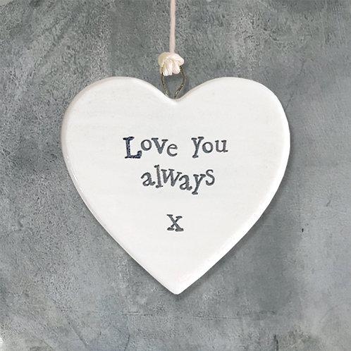 Love You Always Porcelain Heart