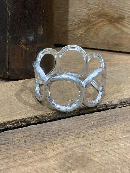 Silver Plated Elasticated Bracelet