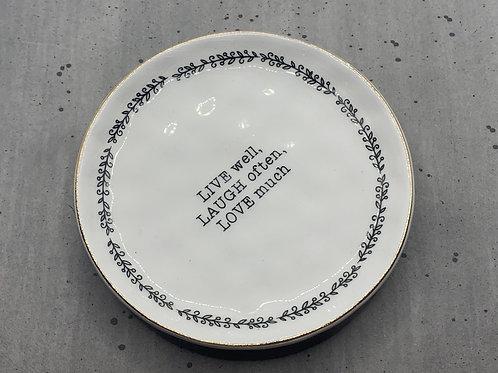 Live Laugh Love Trinket Dish
