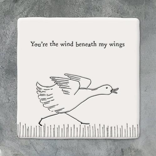 Running Duck Porcelain Coaster