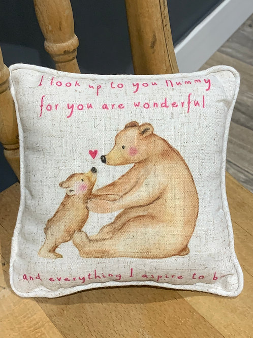 Look Up To You Mummy Bear Cushion