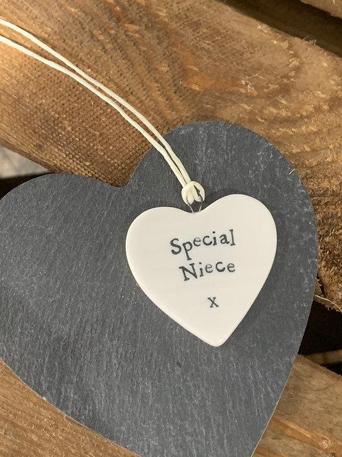 Special Niece Porcelain Heart