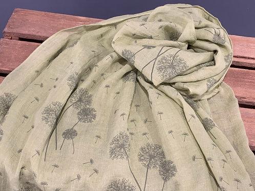 Green Dandelion Scarf