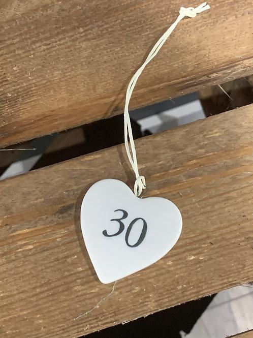 Thirty Porcelain Heart