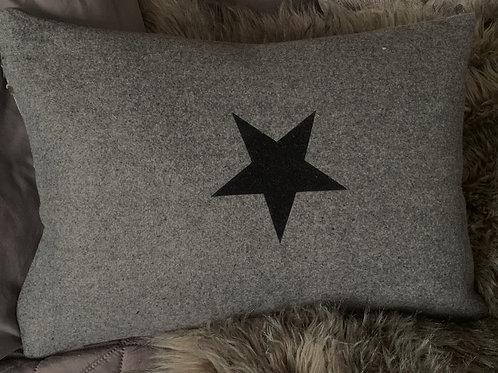 Chalk Uk  Star Design Oblong Cushion
