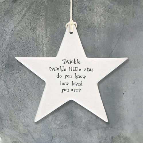 Twinkle Twinkle Porcelain Star