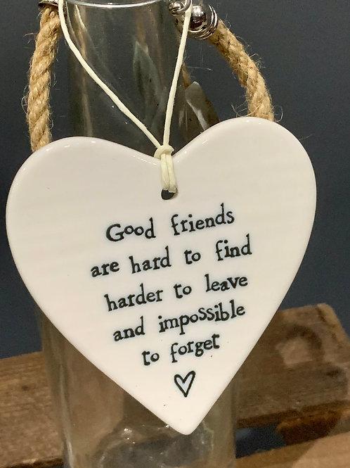 Good Friends Porcelain Heart