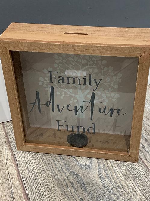 Family Adventure Fund Money Box