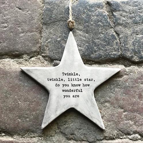Twinkle Twinkle Rustic Star