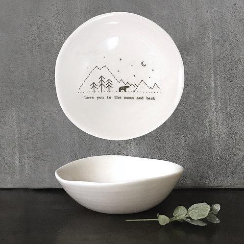 Moon And Back Med Porcelain Wobbly Bowl