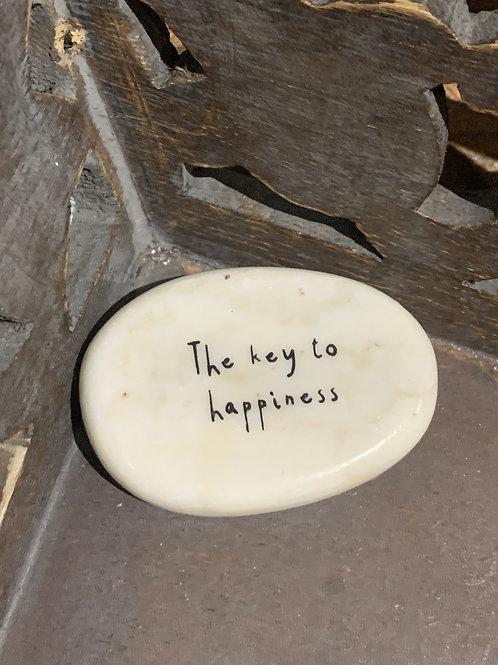 The Key To Happiness Stone Pebble Keepsake