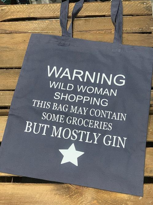 Wild Woman Gin Shopping Bag