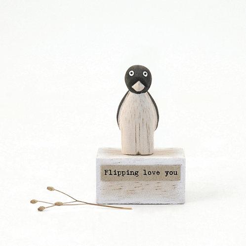 Penguin Wooden Figure