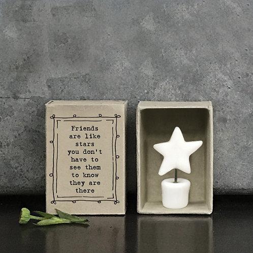 Porcelain Star Matchbox Keepsake