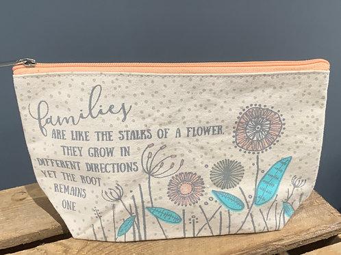 Family Floral Make Up Bag