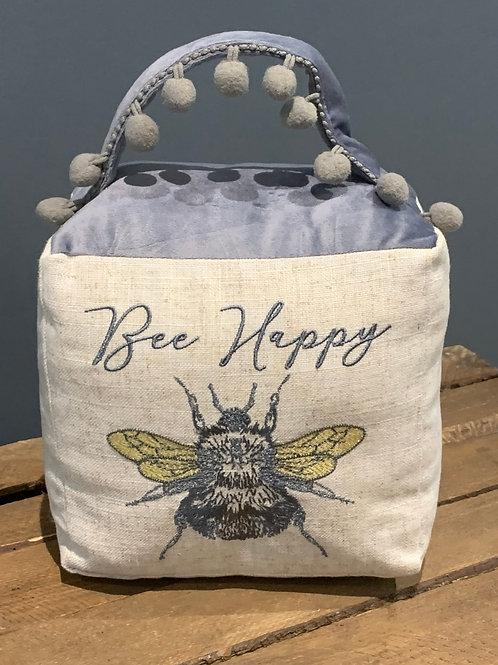 Bee Happy Pom Pom Doorstop