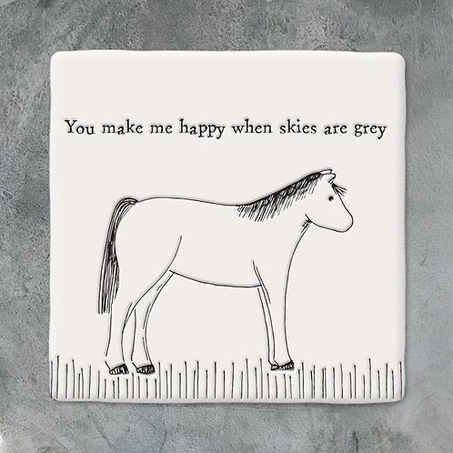 Horse Porcelain Coaster